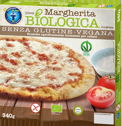 Pizza Margherita Biologica Vegana senza glutine surgelata